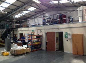 warehouse with mezzanine floor - retail mezzanine floors Nottingham UK
