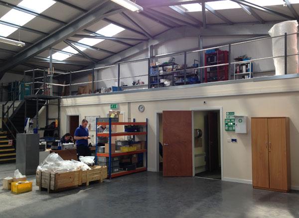 warehouse with mezzanine floor
